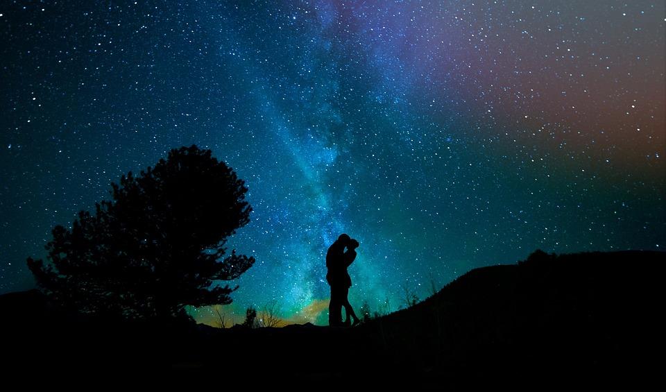 Umano, Amanti, Cielo Notturno, Cielo Stellato, Coppia