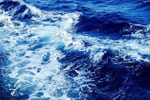 Wave, Sea, Water, Blue, Surf, Sea, Sea