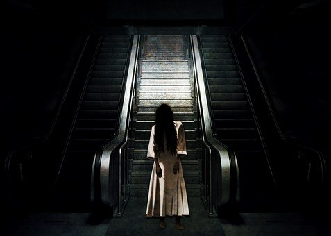 Ghost Escalator, Spirit, Form, Creepy