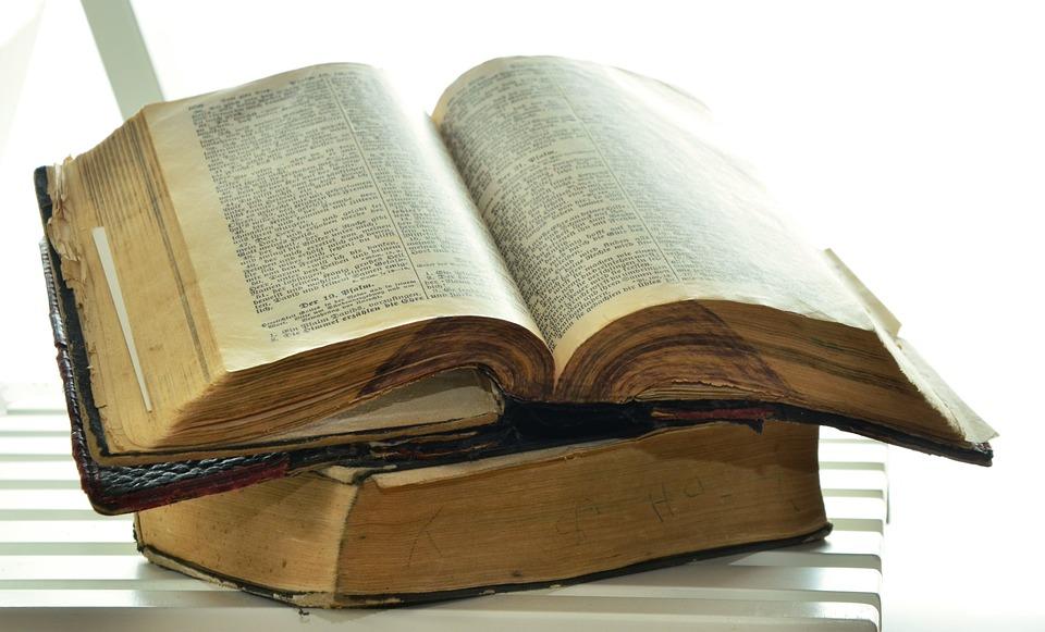 聖書, 古い聖書, 歴史的に, キリスト教, ページ, アンティーク, 宗教, 古物, 神聖な, 神の言葉