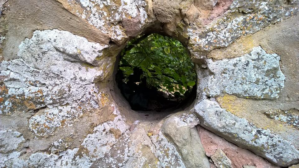 Pedras, Parede, Wall, Buraco
