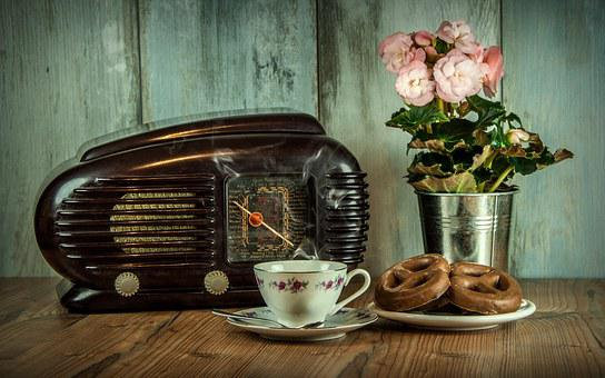 Retro, Radio, Old, Cup, Historical