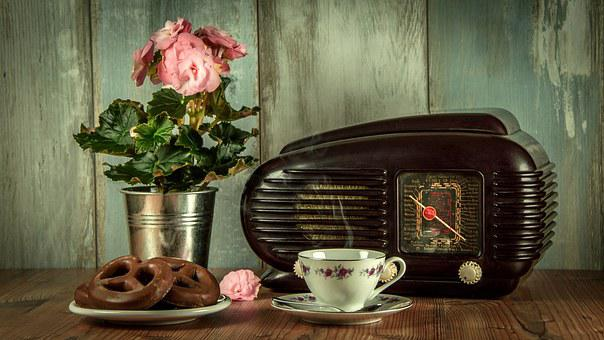 Vintage Retro Radio An Antique Museum Stil
