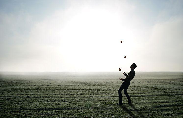 Juggler, Trick, Magician, Juggle