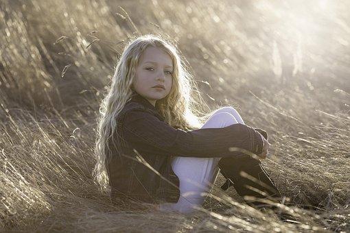 Modell, Liten Jente, Barn, Portrett