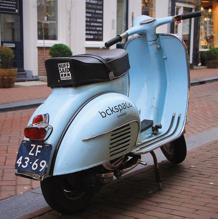 Sepeda Kumbang Motor Vespa Foto Gratis Di Pixabay