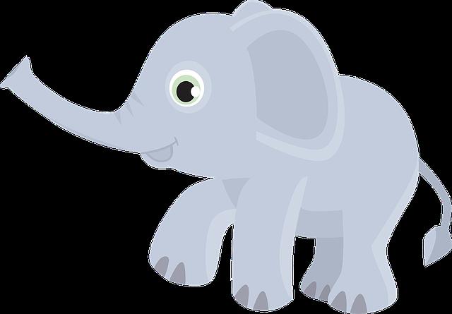 Elephant Animal Trunk 183 Free Vector Graphic On Pixabay