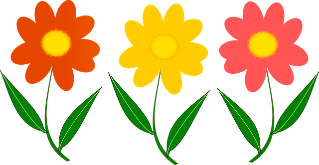 Free Flowers In A Vase Clipart Download Free Clip Art: Three Flower Plant Vector · Free Vector Graphic On Pixabay