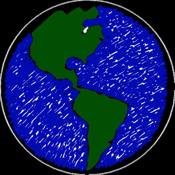 Mundo Dibujo La Tierra Imagen Gratis En Pixabay