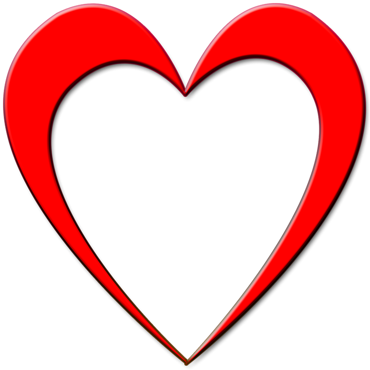 red heart outline 183 free image on pixabay