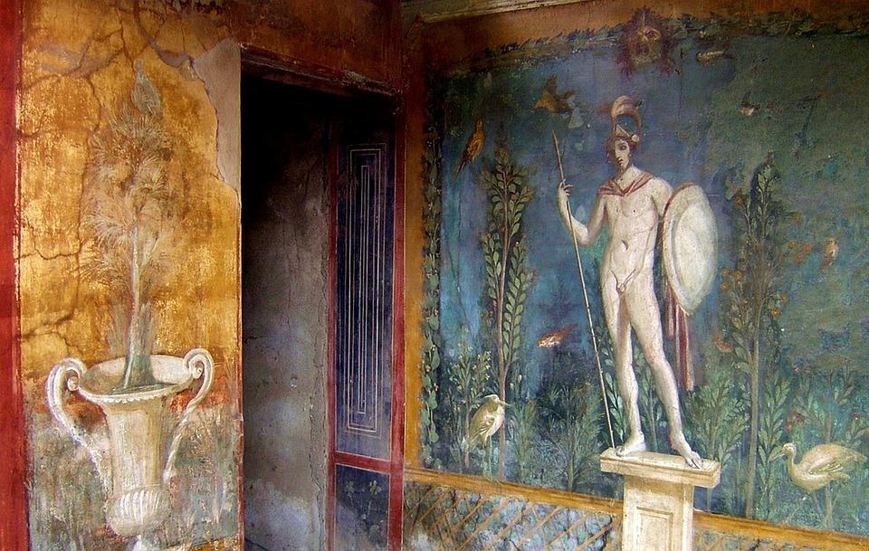 Italia, Pompei, Antichità, Storia Romana, Affresco