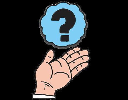 手, 疑問, 疑問点, 疑念, 悩み, 心配, アイディア, 考える, はてな