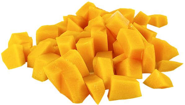 Fruit, Mango, Parts, Png, Yellow, Cutout