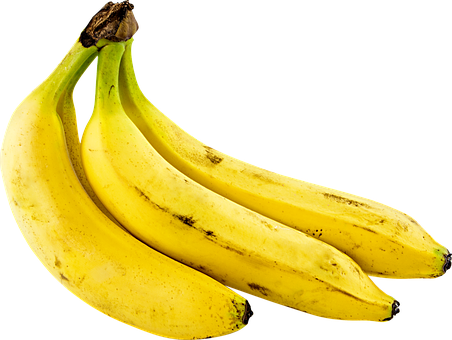 Fruit, Bananas, Png, Yellow, Cutout