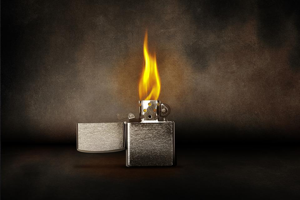 Lighter Flame Burn Kindle Light Warm Zippo Heat