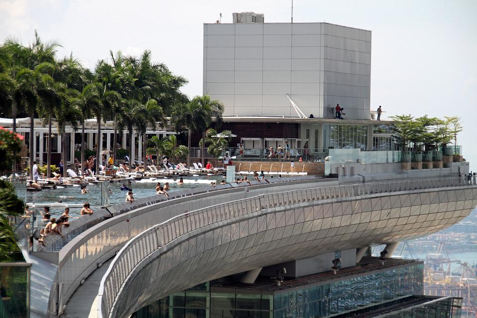 Marina bay sands pool singapore free photo on pixabay - Marina bay sands resort singapore swimming pool ...