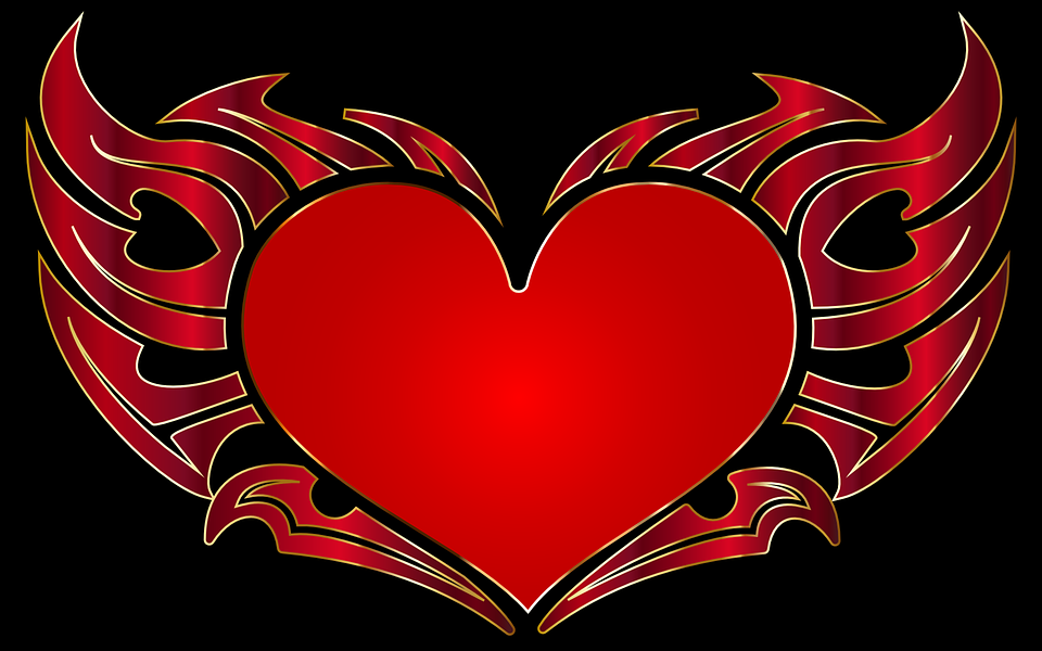Tribal Heart With Banner Image vectoriel...