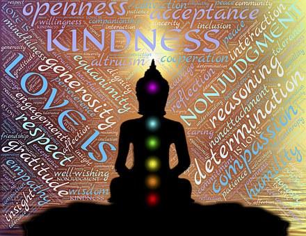 愛, 優しさ, 瞑想, 非判断, 開放性, 受け入れ, 仏, 寛大さ