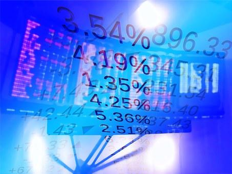 証券取引所, お支払い, 経済, 金融, トレーディング フロア, 金融の世界