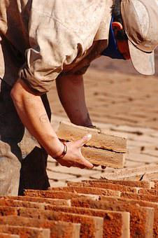 Handmade Bricks, Drying Bricks, Handmade