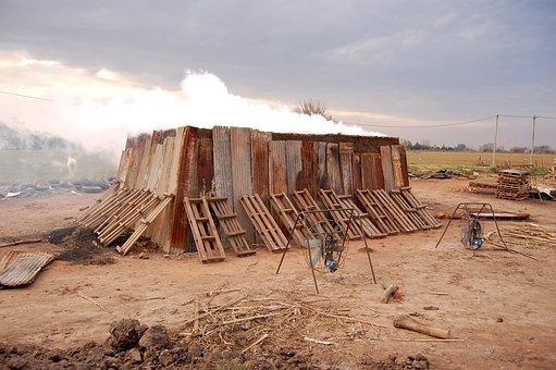 Handmade Bricks, Oven, Brick, Rural
