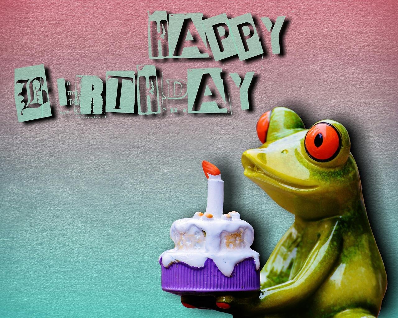 Жаба с днем рождения открытка