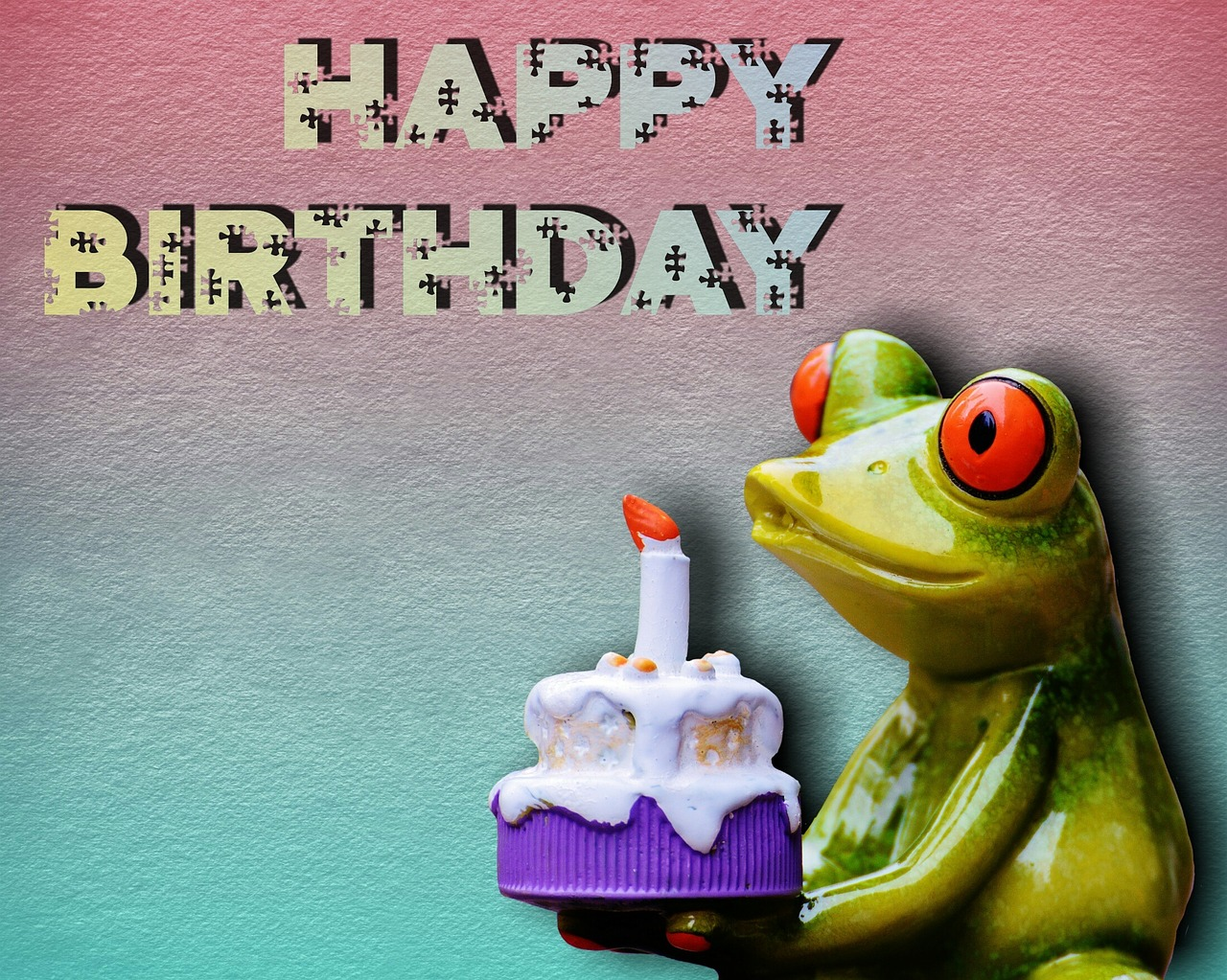Открытка с днем рождения жабой
