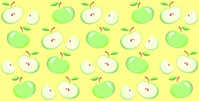 りんご, アップル, パターン, ベクトル, グリーン, 黄色