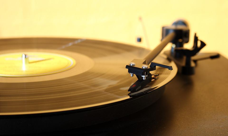 レコードプレーヤー, ターンテーブル, 音楽, 針