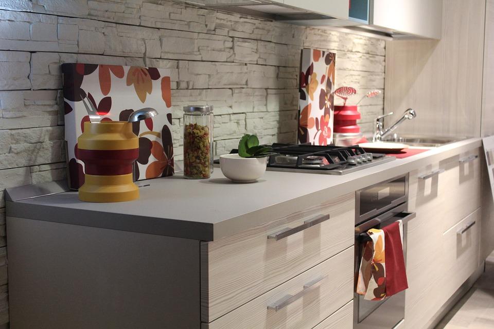 キッチン, 家具, 家, クック, インテリア