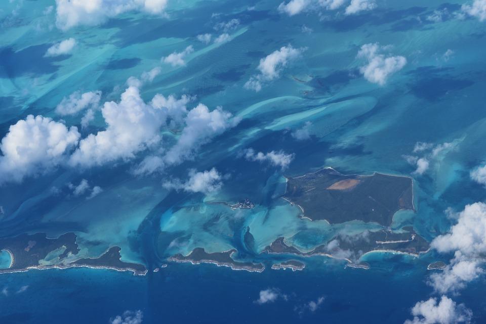 Vue, Îles, Bahamas, Mer, Ciel, Tropicaux, Scénique