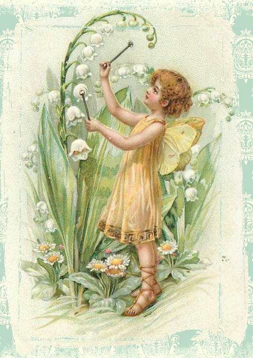 Free illustration: Fairy, Vintage, Flowers, Wings - Free ...