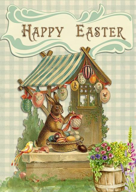 Easter Greeting Card Vintage 183 Free Image On Pixabay