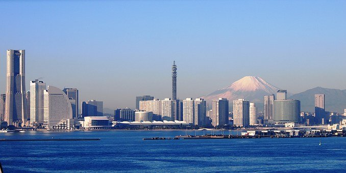 富士山, 横浜, ベイブリッジ, 冬, ランドマークタワー, 高速道路