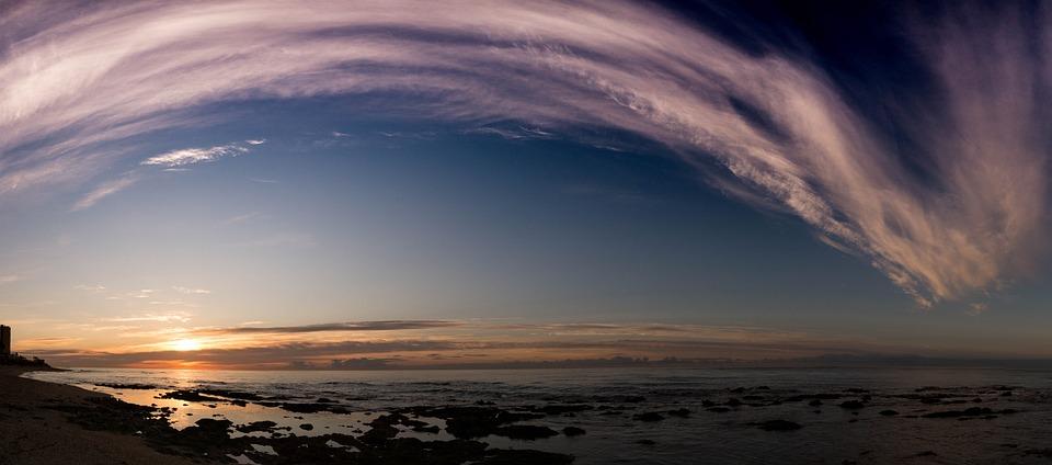 夜明け, 雲, 空, サンセット, 地平線, 海, 目覚め, 出力日, 日, 自然, スペイン, アンダルシア