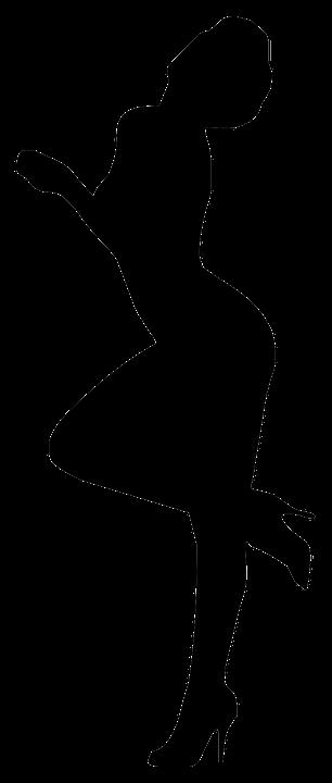 Силуэты секси девушки
