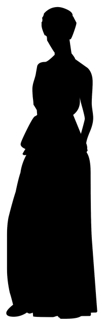Free illustration: Silhouette, Woman, Evening, Dress ...
