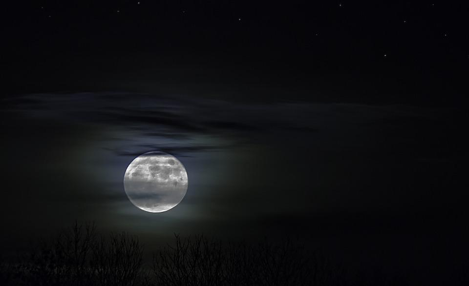 Moonlight, Night Photograph, Night, Abendstimmung, Moon