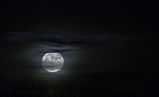 Mondlicht, Nachtaufnahme, Nacht