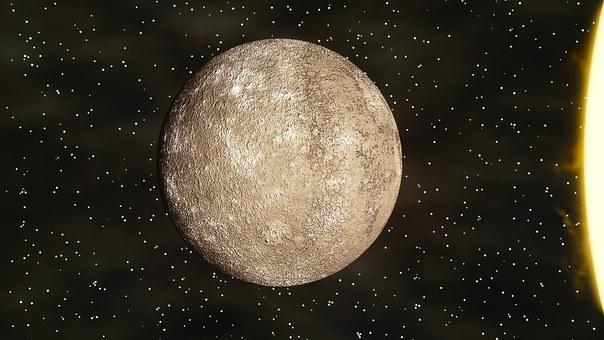 Mercury, Stars, Sun, Solar System