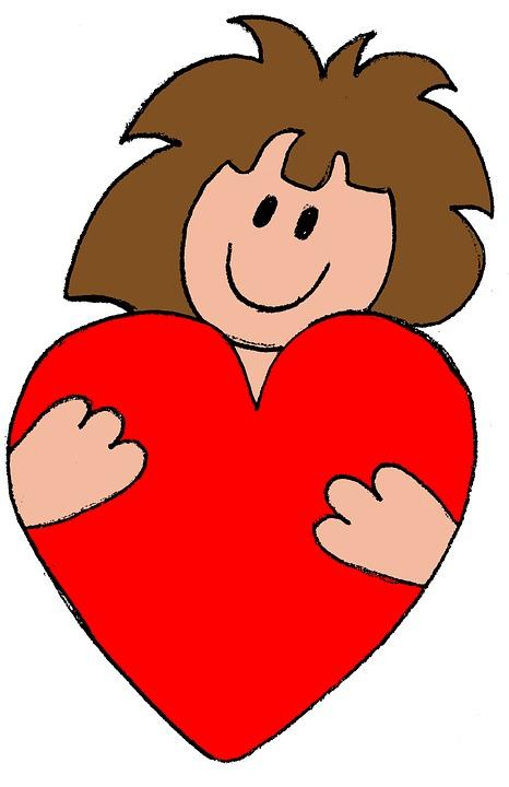 Liefde, Vriendschap, Bezit, Hart, Kinderen, Tekening