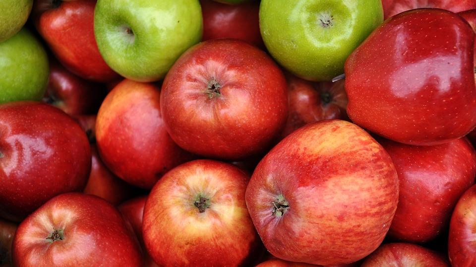 apple food. fruit, green apple, food, red apple food