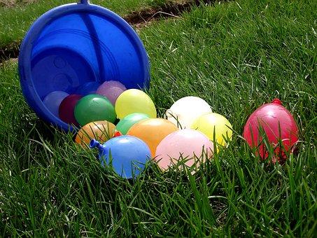 L'Eau, Ballon, Couleur, Amusement