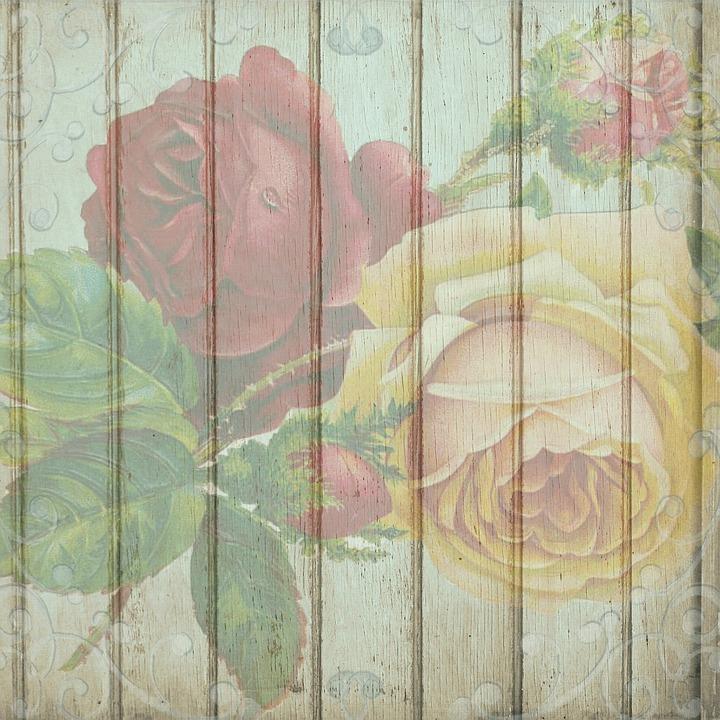 Vintage Rosas De Madera , Imagen gratis en Pixabay