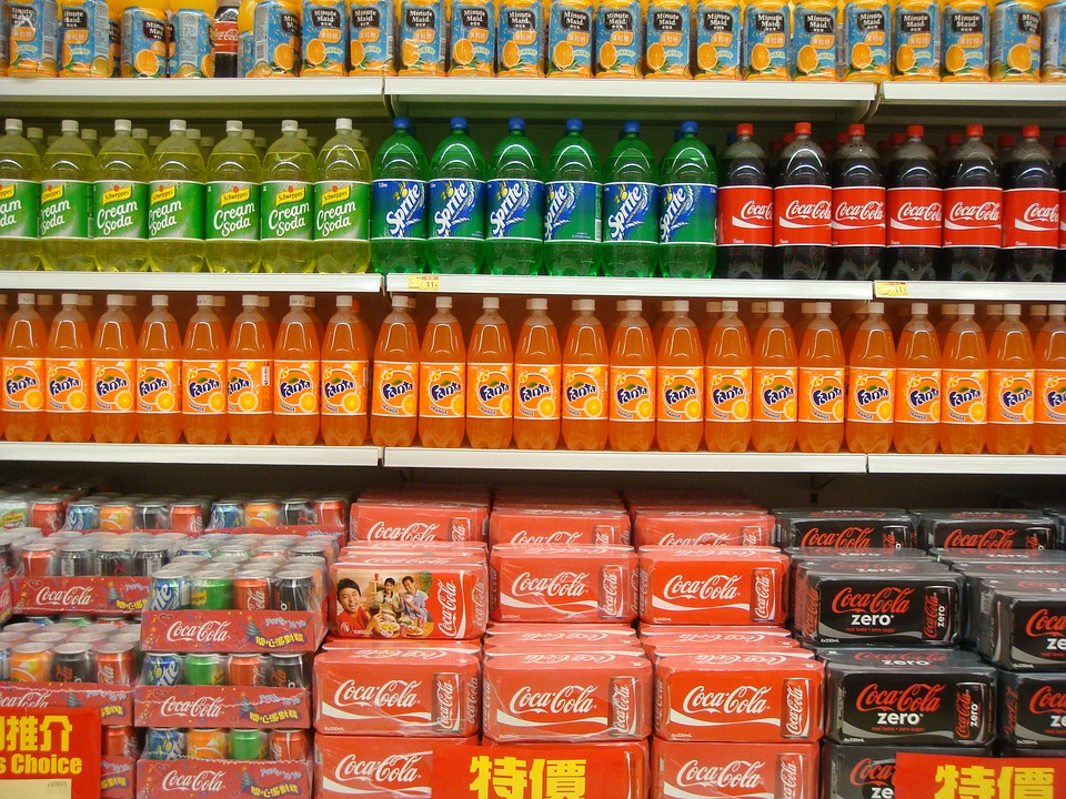 Supermarket, Cola, Soft Drink, Soda