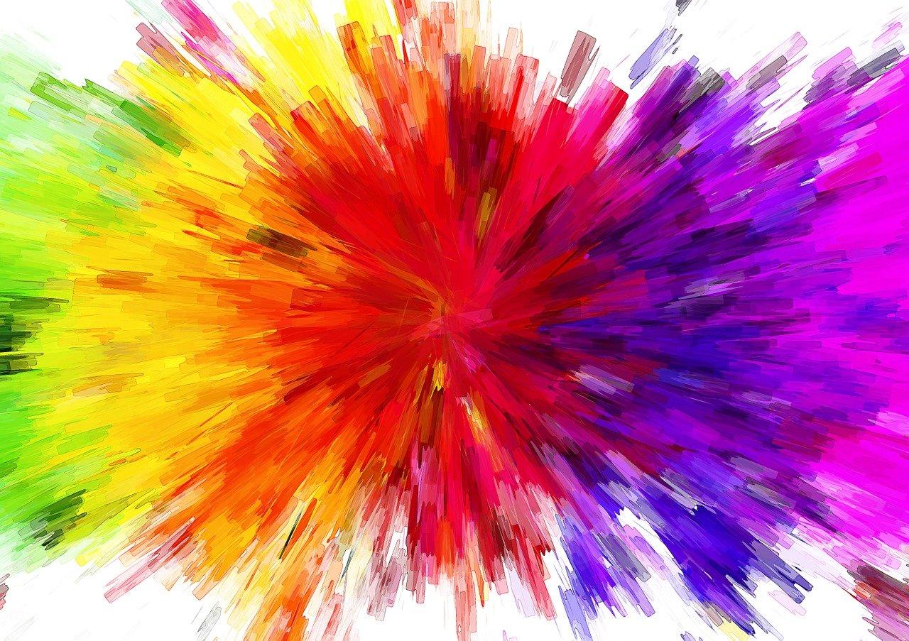 Цветной взрыв картинки