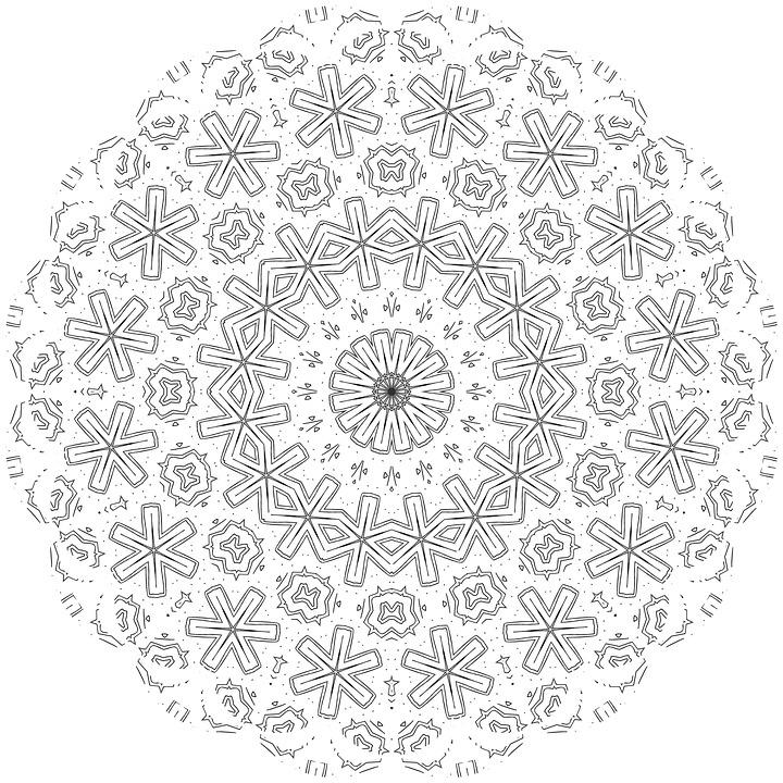 Mandala Dewasa Mewarnai Warna Pola Gambar Gratis Di Pixabay
