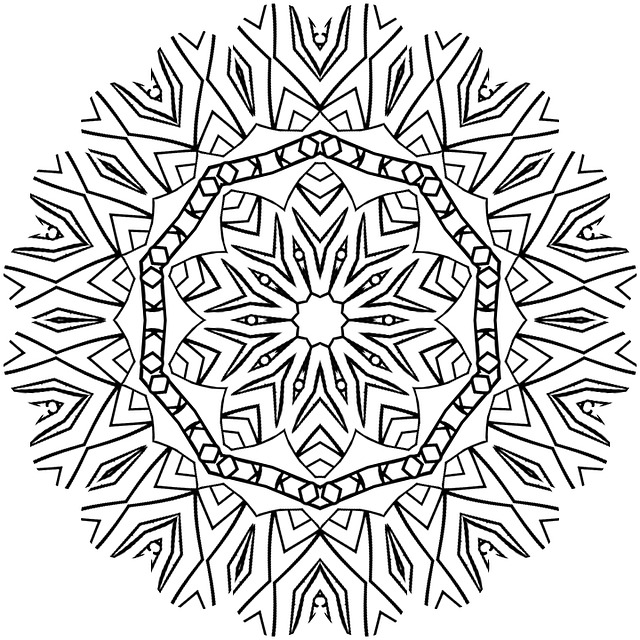 Mandala Adult Coloring Color Free image on Pixabay