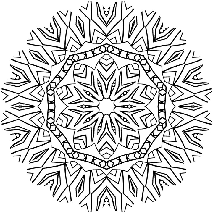 Kleurplaat K Mandela Mandala Adult Coloring Color 183 Free Image On Pixabay