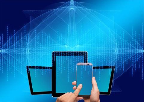 コンピューター, スマート フォン, オンライン, デジタル, データ